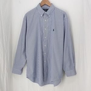 Ralph Lauren Shirts - Ralph Lauren Yarmouth blue stripe shirt 16.5 34\35